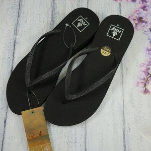 New Reef Womens Krystal Star Thong Sandals US 10